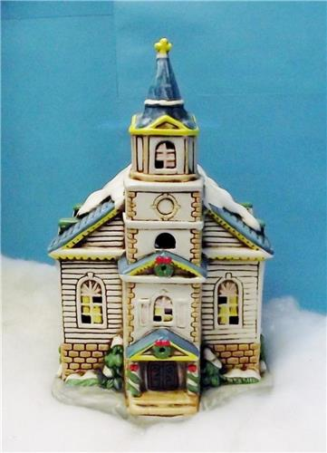 Lefton Colonial Village Collection-05820-Church of the Golden Rule W/Light-#45