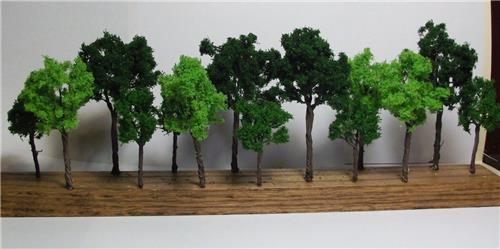 Multi Scale Use-Model Scenery-14 Piece Detailed Tree Assortment-3 Sizes-3 Colors