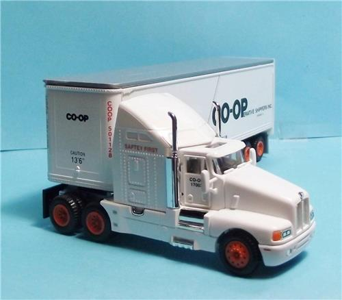 HO Gauge-Model Power-17003-Coop Shippers Long Haul Tractor W/Sleeper & Box Trailer