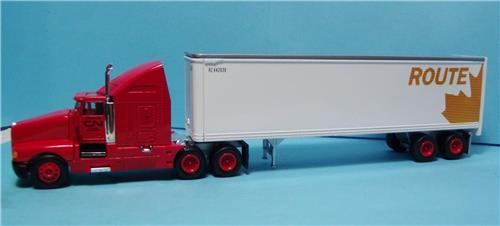 "HO Gauge-Model Power-17011-CN ""Leaf"" Route LH Tractor W/Sleeper & Standard Box Trailer"
