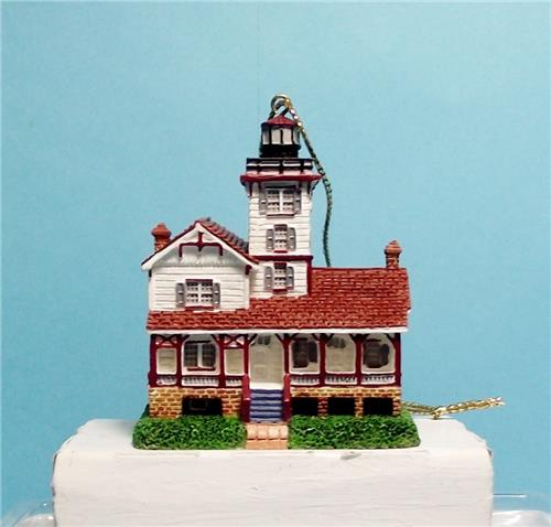 Lefton Christmas Lighthouse Ornaments-13629-Hereford Inlet Lighthouse, New Jersey