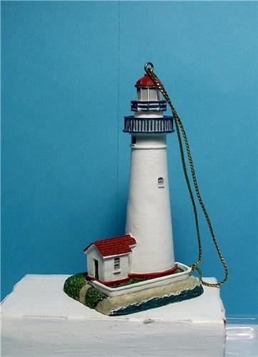 Lefton Christmas Lighthouse Ornaments-13633-Fort Gratoit, Michigan Lighthouse