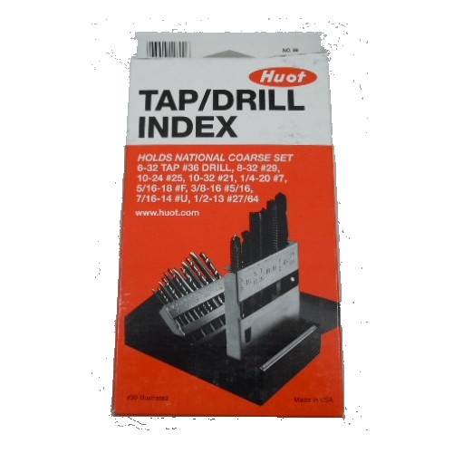 huot drill index. 18pc tap/drill index national course set huot drill index