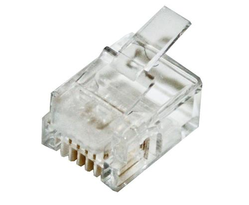 Modular RJ Plug for Data RJ45 8P8C Round Solid 100Pk High Quality CABAC 0688RSLC