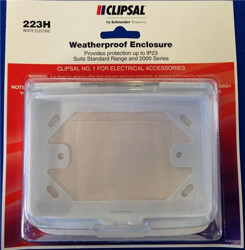 Weatherproof Power Point Gpo Enclosure Ip23 Clipsal 2000