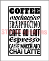 Framed Coffee Word Art (Black)