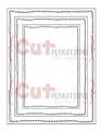 OUT OF STOCK! Crazy Double Running Stitch Rectangle Nesting Dies - CUTplorations