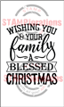 OUT OF STOCK! Blessed Christmas - Typografia Christmas