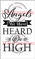 Angels on High - Typografia Christmas