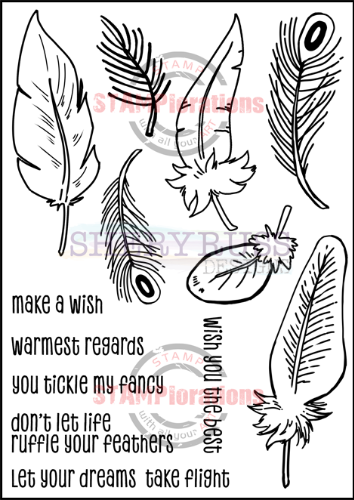 "FEATHERY 5"" by 7"" Stamp Set"