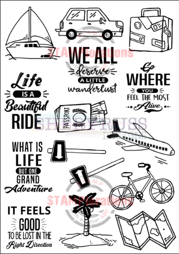 "WANDERLUST 5"" by 7"" Stamp Set"