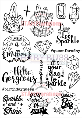 "SPARKLY 5"" by 7"" Stamp Set"