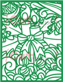 Doodled Christmas Candles Cover Plate Die - CUTplorations