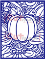 Doodled Autumn Pumpkin Cover Plate Die - CUTplorations
