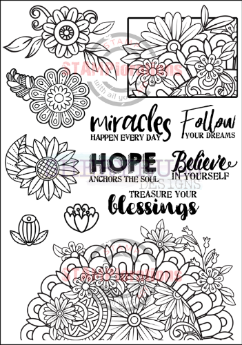 "BLOOMFUL 5"" by 7"" Stamp Set"