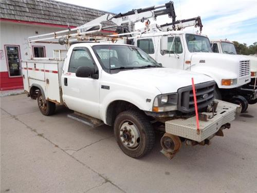 2003 FORD F350 4X4 RAILROAD HIGH RAIL SIGNAL MAINTENENCE SERVICE BODY TRUCK