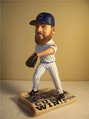 beed5d14794 Jake Arrieta Chicago Cubs 2016 World Series Champions Newspaper FC  BobbleHead - Romito Sports Figures