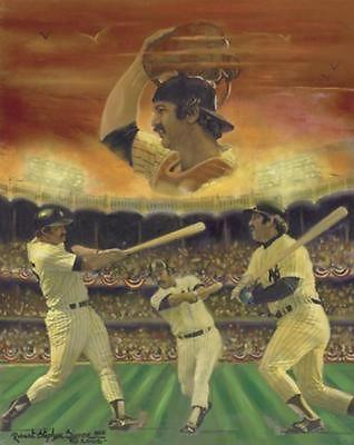 Thurman Munson NewYork Yankees Lithograph Robert Simon