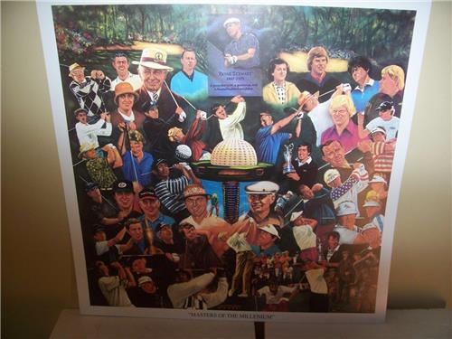 Masters of the Millenium Greatest Golfers of All Time Lithograph by Robert Simon