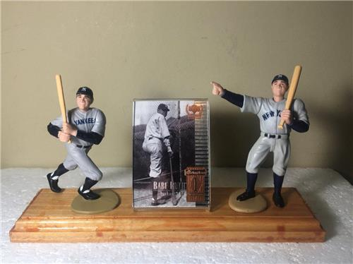 Babe Ruth New York Yankees Called Shot Starting Lineup Figures Wooden Plaque