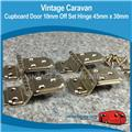 Caravan CUPBOARD DOOR 10MM OFFSET HINGE 45MM X 30MM 4PIECE