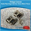 NICKLE PLATE HINGE FOLD OVER 10MM OFFSET ( 2 ) H0137