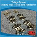 Caravan Butterfly Hinges Small ( 4 ) H0123