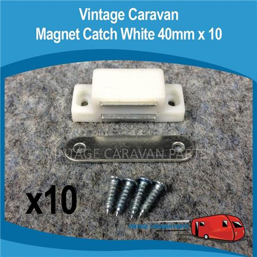 Magnetic Catch White 40mm 10 Sets H0102
