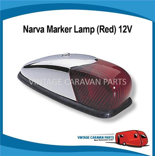 "Side Light Chrome "" Red Curved "" Narva 12V 86360 E0190 ..."