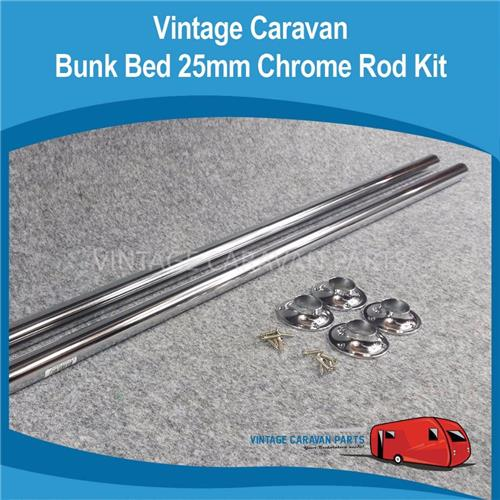 Bunk Bed Kit   Chrome Tube Kit 25mm CB0108