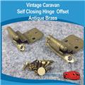 Self Closing Hinge Offset Antique Brass H0130