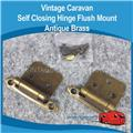 Self Closing Hinge Flush Mount Antique Brass Vintage H0132