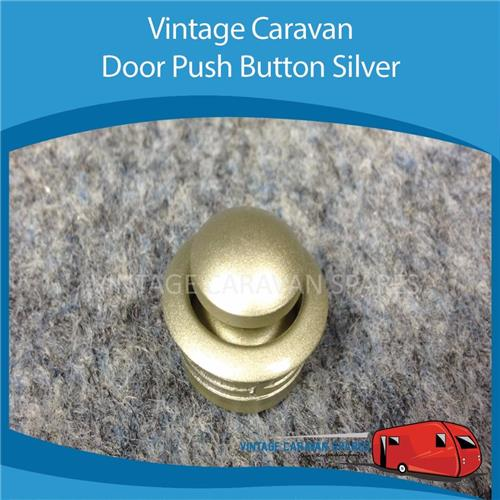 Caravan,DOOR PUSH BUTTON KNOB SILVER