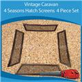 Caravan 4 Seasons Hatch Insect Screen ( 4 Piece Set )