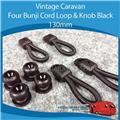 Camper FOUR BUNJI CORD LOOP & KNOB BLACK 130MM  A0107