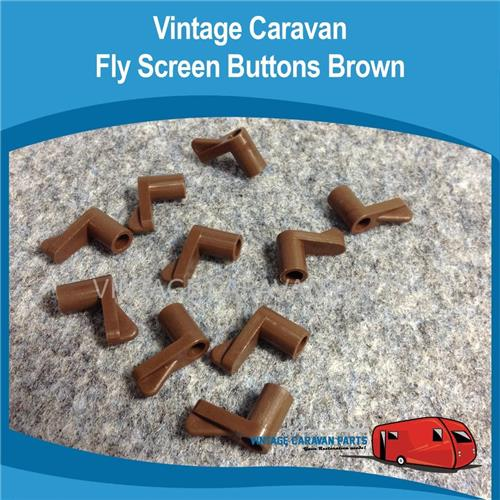 Fly Screen Clips Brown x 10 Screen Buttons W0101