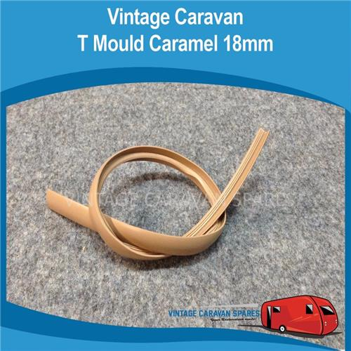 T MOULD RUBBER CARAMEL( 2 MTRS ) 18MM