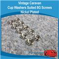 CUP WASHERS 8G NICKEL PLATED ( 10  ) H0128