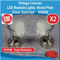 12V METEOR LED Bedside Reading Lamps Glass ( 2 PACK ) Nickel 038569 E0211