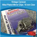 Mirror Clips 10mm Claw ( 4 PACK ) Nickel Plated H0133