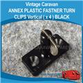 ANNEX PLASTIC FASTNER TURN CLIPS VERTICAL  ( 4 Pack BLACK ) A0119