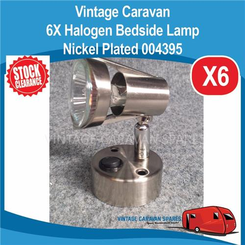 6X Caravan 12V HALO HALOGEN Bedside Reading Lamps ( 6 PACK ) Nickel 004395 E0248