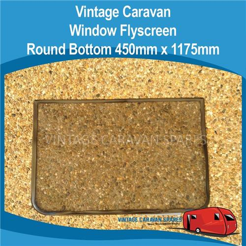 Fly Screen ROUND Bottom Vintage ( 450mm x 1175mm )  010259