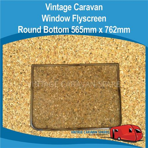 Window Flyscreen ROUND Bottom ( 565mm x 762mm )  010279
