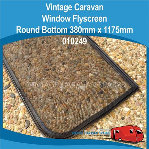 Window Flyscreen ROUND Bottom ( 380mm x 1175mm )  010249