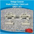 SHADE PROTECTOR  CATCH LOCK  ( GREY X2 ) W0138