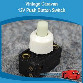 12V Oyster Light Push Button Switch E0251