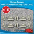 WIND OUT WINDOW END PLUG ( GREY X 10  ) W0140