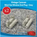 WIND OUT WINDOW END PLUG ( GREY X 2  )  W0140