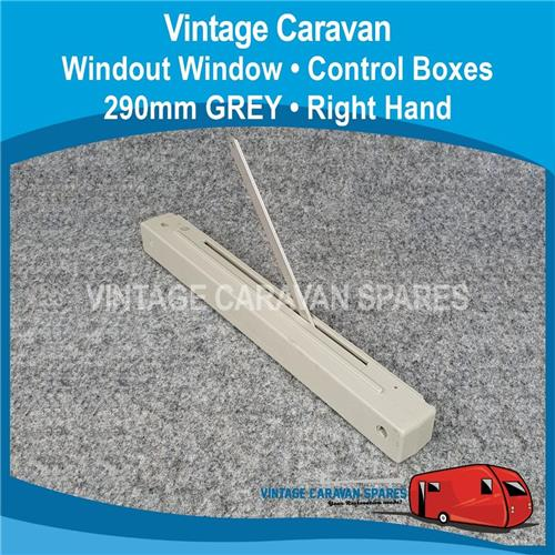 WIND OUT WINDOW   CONTROL BOX   290mm ( RIGHT HAND GREY )  W0143
